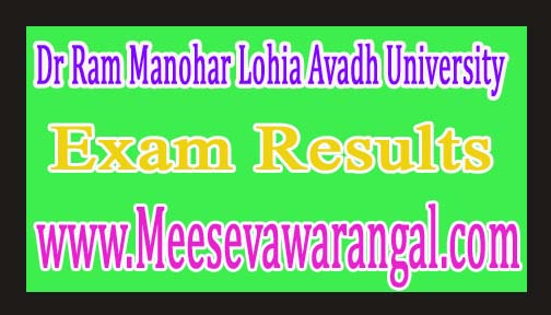 Dr Ram Manohar Lohia Avadh University MA Final Sanskrit Back Paper Exam Results 2016