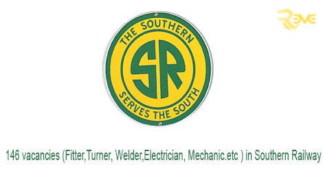 146 vacancies (Fitter,Turner, Welder,Electrician, Mechanic.etc ) in Southern Railway
