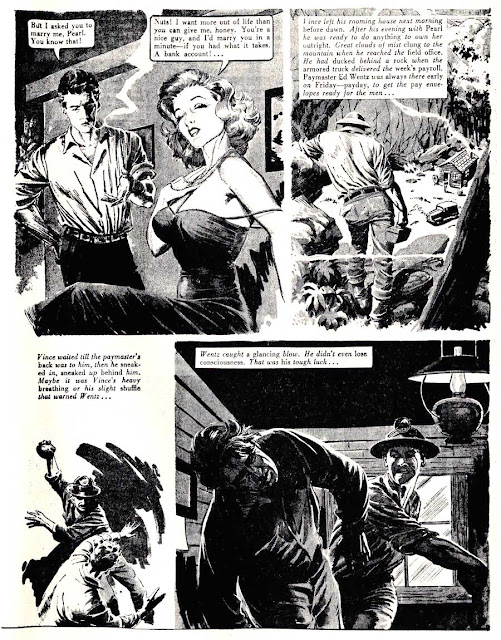 Eerie Tales #1 - 1950s horror comic book page by Al Williamson