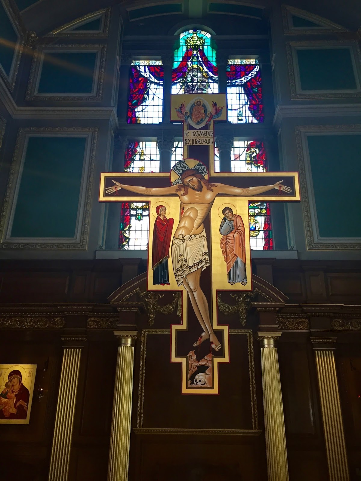 Jesus on the cross in a London church