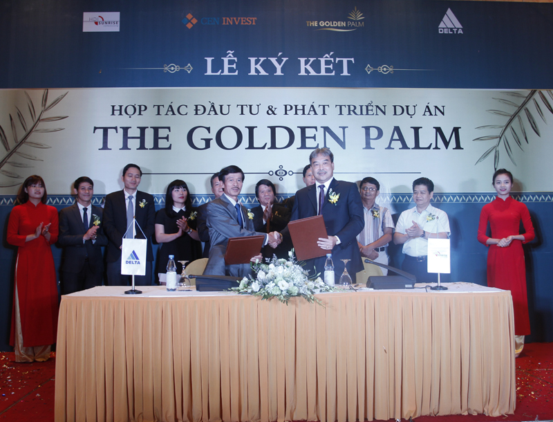 Lễ ký kết hợp tác chung cư The Golden Palm