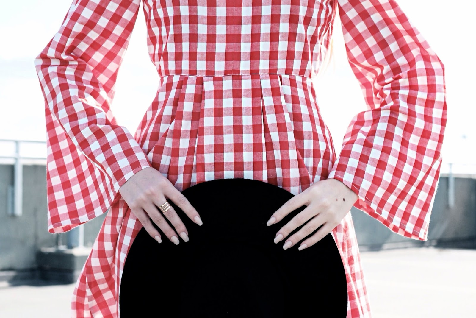 Styling a Bright Gingham Dress for Spring