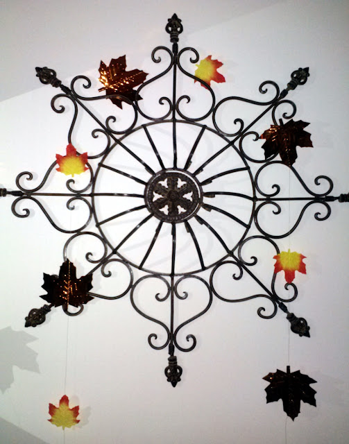 Copper leaves on Iron wall art makes a fall statement MWP