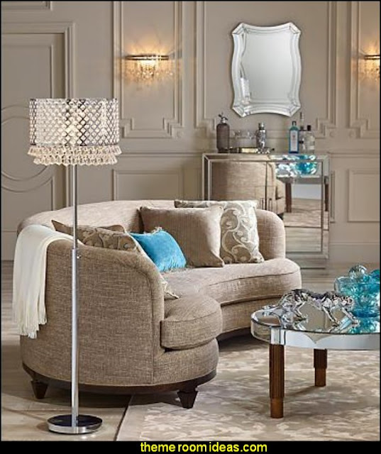 luxe glam rooms Hollywood glam living rooms - old Hollywood style decorating ideas - Luxe living rooms furniture - old Hollywood glamor decorating ideas - Hollywood glam furniture - mirrored furniture