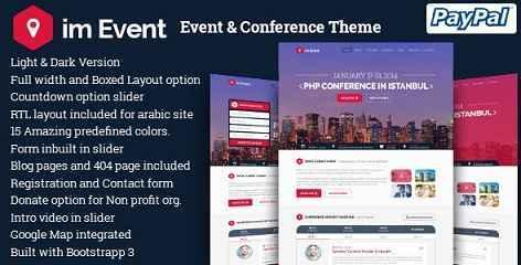im Event v2.9 - Event & Conference WordPress Theme