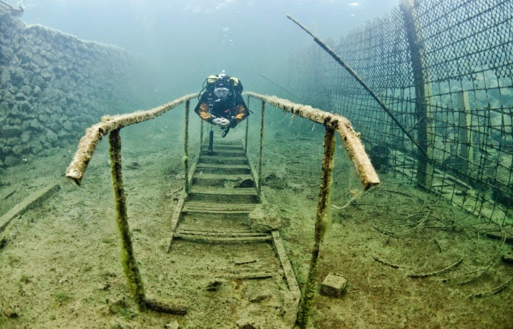abandoned underwater prison  estonia