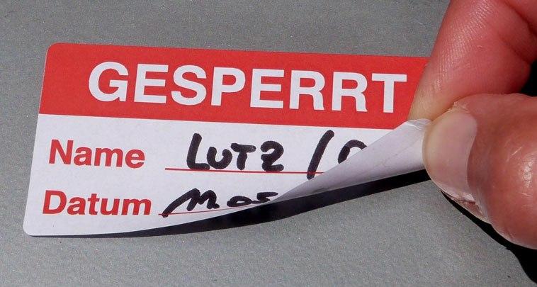 Etiketten Siegel Aufkleber Temporäres Kennzeichnen