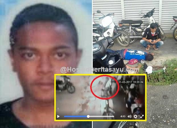 Detik sakaratul maut menjemput ..  Adhar terlanggar motosikal lalu menghempapnya (4 Gambar)