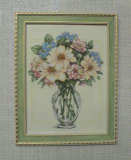 Вышивка букетов цветов