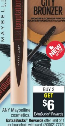Maybelline cvs couponers deals