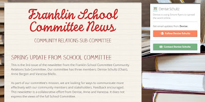 School Committee Newsletter - Spring Edition 2017