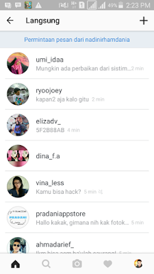 Cara mengetahui pesan instagram yang belum terbaca