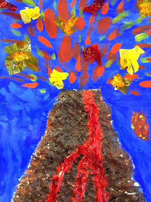 volcano craft ideas volcano s from tissue paper 3194