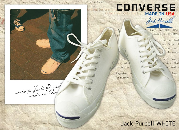 converse jack purcell usa สีขาว