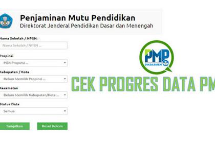 """"""" Cek Progres """" Data PMP Dikdasmen Kemdikbud"""