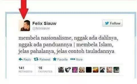 5 Bantahan Untuk Felix Siauw yang Mengatakan Nasionalisme tidak ada Dalilnya