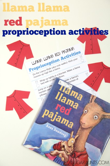 Llama Llama Red Pajama proprioception activities