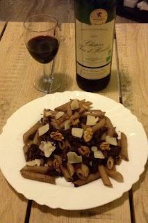 beaux-vins recette penne sauce vin rouge