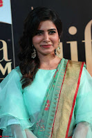 Samantha Ruth Prabhu Smiling Beauty in strange Designer Saree at IIFA Utsavam Awards 2017  Day 2  Exclusive 09.JPG
