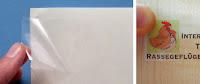 Folie, transparent-glänzend für Laserdrucker auf A4 Bogen