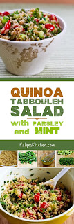 Quinoa Tabbouleh Salad with Parsley and Mint found on KalynsKitchen.com