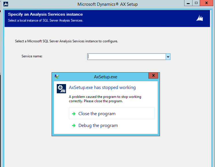 Yet Another Dynamics AX Blog: Error when installing