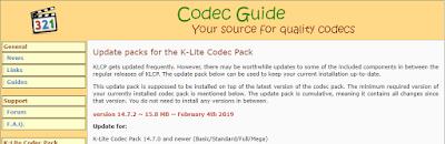 K-Lite Codec Pack 14.7.2 Update