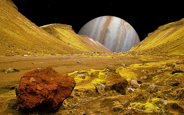 Jupiter Moon Io Surface