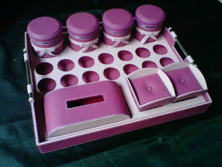 tray set toples warna ungu