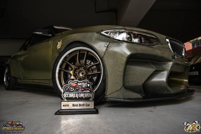 MK Racing's  M2 Eurofighter won the best drift car award at the GCC Bike and Car