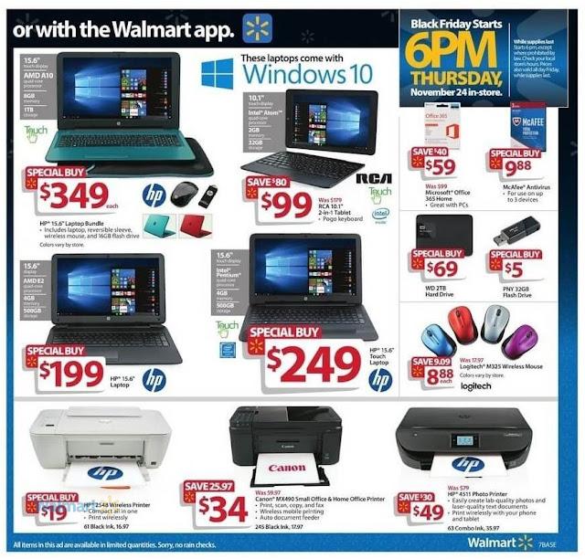 Walmart Black Friday Ad HP Laptop and HP Printer Bundle