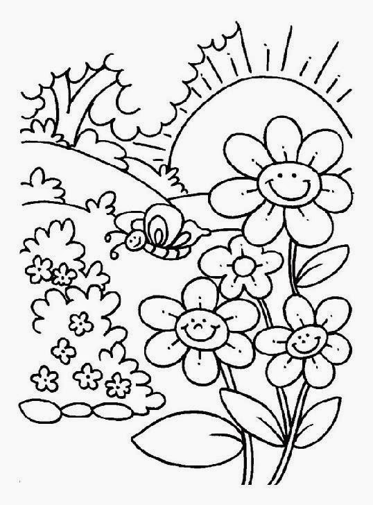 free springtime coloring pages - spring coloring pictures free coloring pictures