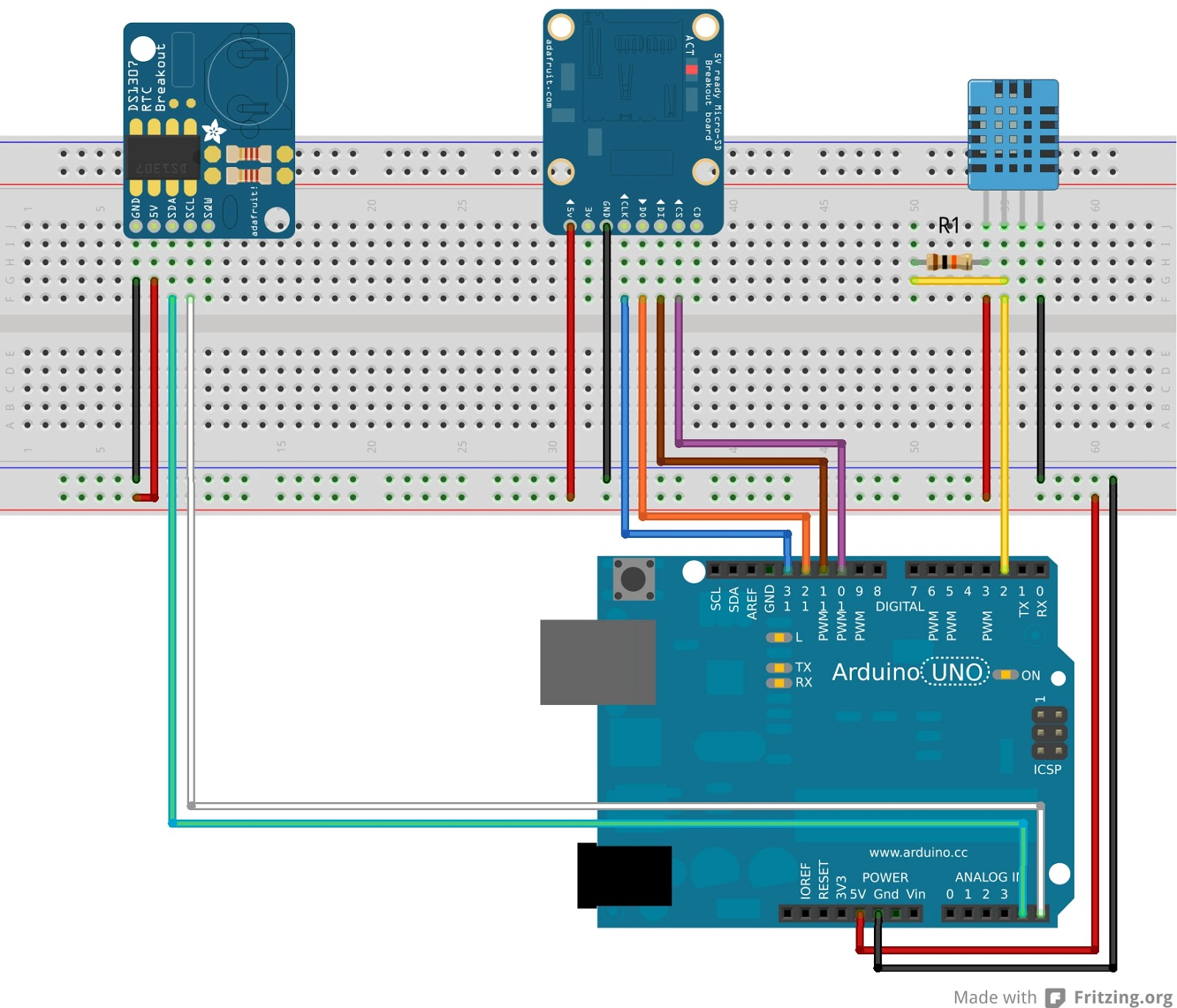 arduino relay wiring diagram techrm how to make a wifi datalogger for temperature and