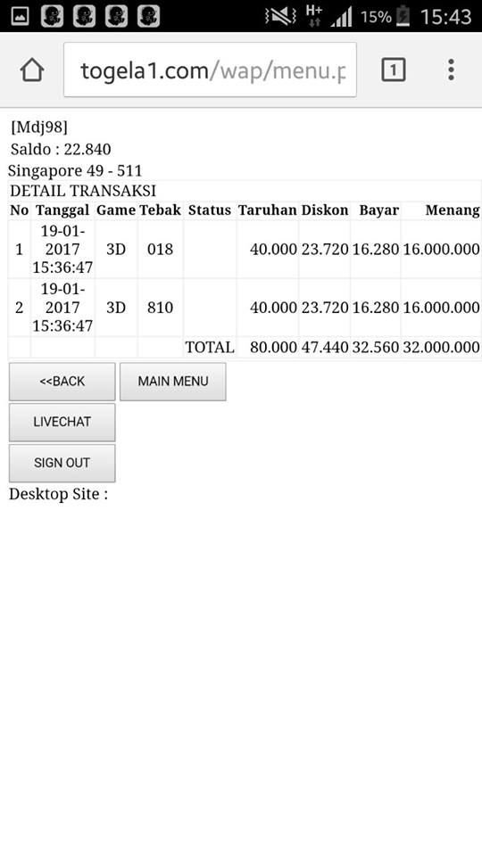 TOGELA1.COM BANDAR TOGEL PENIPU, TAK BERMODAL !!!!