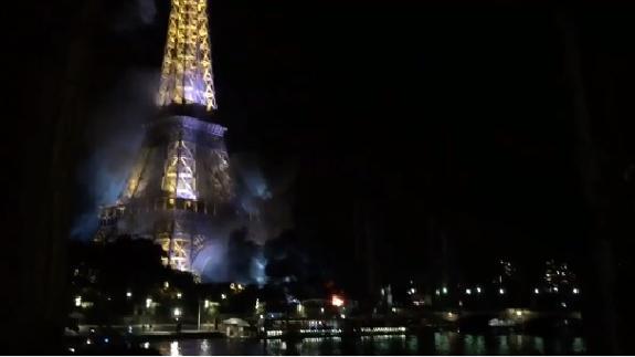 vídeo Incendio cerca  Torre Eiffel