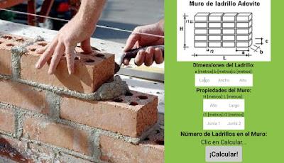 Calcular cantidad de ladrillo en un muro (aplicación Android ingeniería civil)