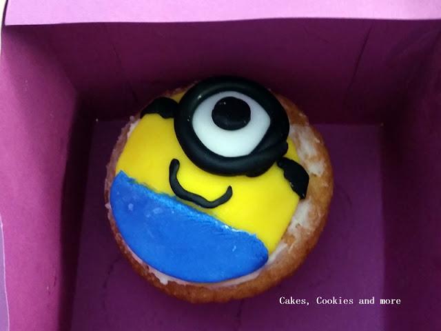 Minion Cupcake - ein Werk einer Schülerin