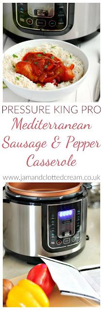 Pressure King Pro Mediterranean Sausage & Pepper Casserole
