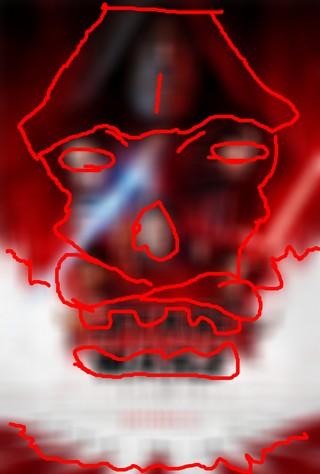 poster STAR WARS: Gli Ultimi Jedi con i contorni del volto del pirata