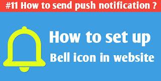 send push notification on blogger