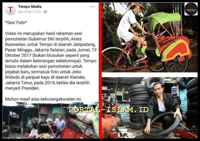 """Menertawakan Foto Anies, Lupa Foto Jokowi"""