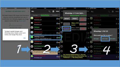 Restore whatsapp dengan titanium backup