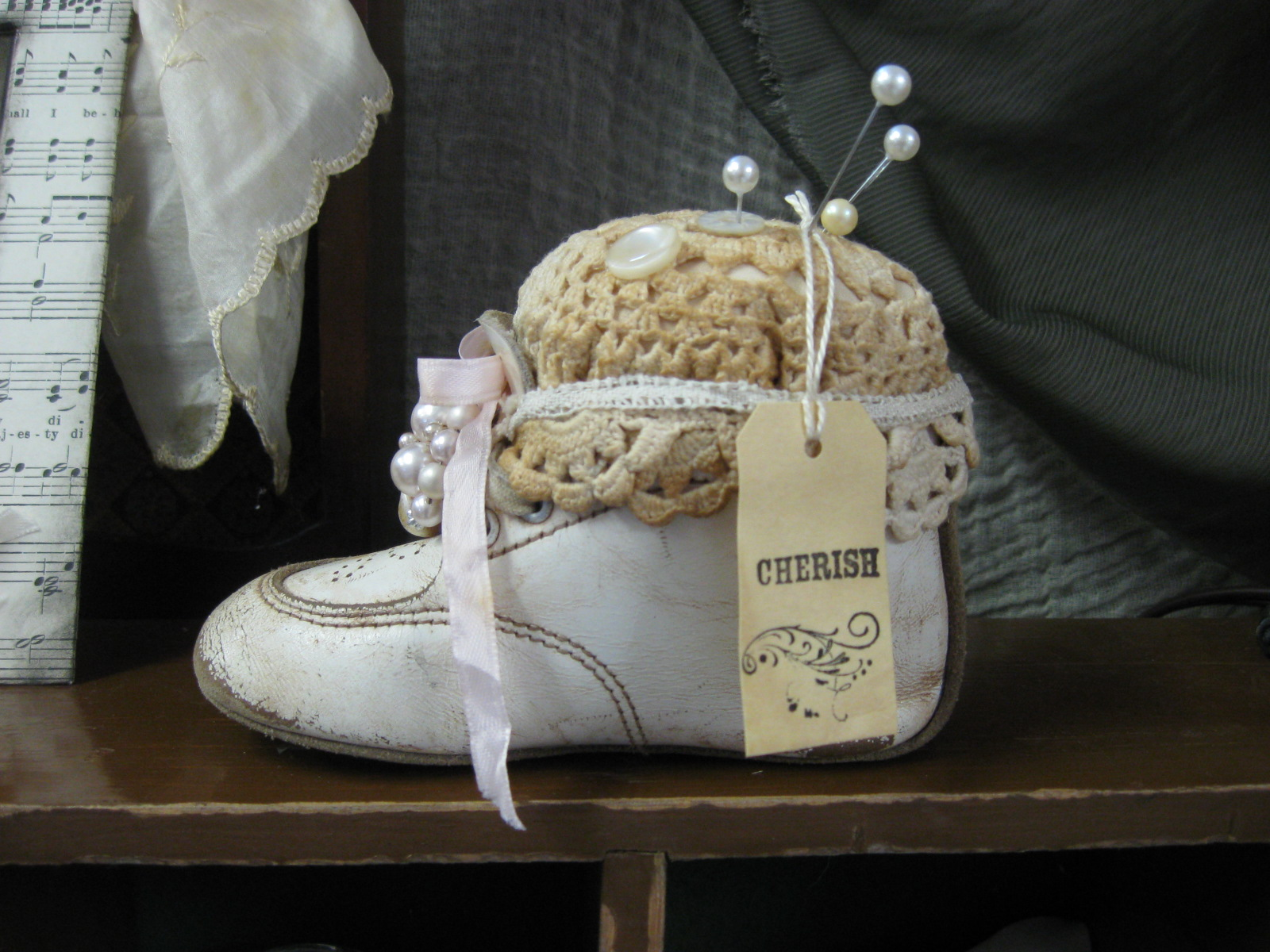 Treasures From The Heart Vintage Baby Shoe Tutorial