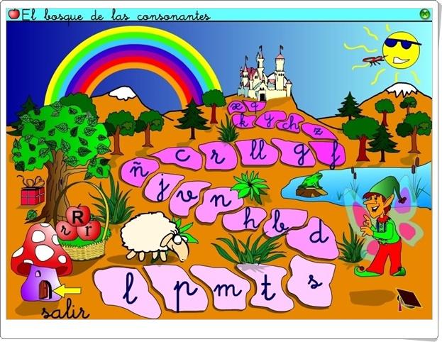 """""""El Bosque de las Consonantes"""" (Aplicación Interactiva de Lectoescritura)"""