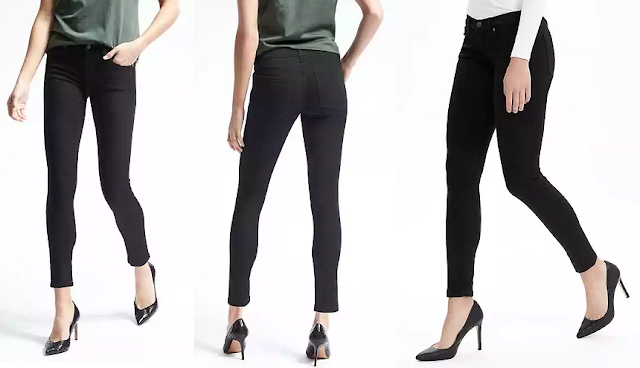 Banana Republic Black Skinny Ankle Jean $25 (reg $98)