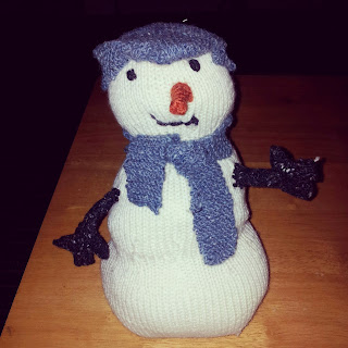 John Lewis knitted snowman