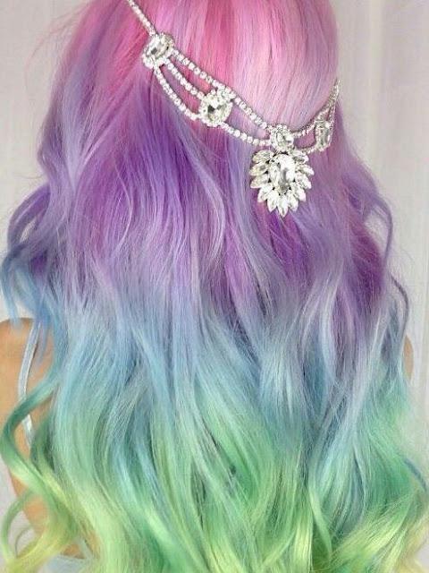 unicornio cabello colores 2017