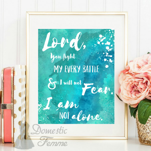 Domestic Femme: I Am Not Alone {FREE Printable}