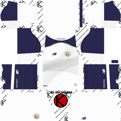 20858a15976 Costa Rica 2018 World Cup Kit - Dream League Soccer Kits - Kuchalana