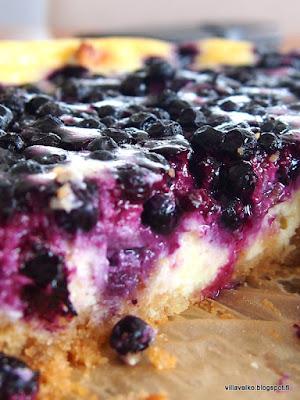 mustikkainen new york cheesecake